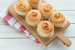 Cinnamon rolls (yumehana) Tags: sugar indulgence cinnamon dessert sweet roll brown bread snack topping swirl rolls delicious glazed homemade goods golden spiral bakery frosted napkin baked cake unhealthy bun closeup breakfast white life gourmet taste still food warm tasty frosting brunch treat dough flavor cheese fresh sticky pastry iced シナモンロール 手作りパン パン焼き