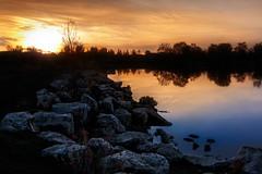 untitled-18-2 (Ken Folwell) Tags: sunset sky orange water reflection outdoor landscape idaho rocks canon5dmkiii ef24105mmf4l boise