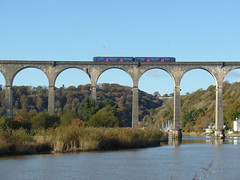 150265 Calstock Viaduct (4) (Marky7890) Tags: gwr 150265 class150 sprinter 2p84 calstockviaduct railway station train cornwall calstock tamarvalleyline