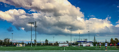 Dramatic clouds above a soccer game (randyherring) Tags: grass trees california sports lights elkgrove field nature centralcaliforniavalley afternoon sky outdoor ca recreation soccer clouds unitedstates us