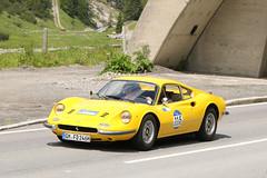 Ferrari Dino 246 GT (1972) (Roger Wasley) Tags: ferrari dino 246 gt 1972 arlberg car rally 2016 lech austria alps austrian alpine classic
