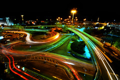 Don't ask me. I was bored (PentlandPirate of the North) Tags: manchester airport traffic flow car parks light trails streaks random unpredictable