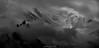 Un Îlot dans la Tourmente (Frédéric Fossard) Tags: grain texture paysage montagne nature silhouette aiguilledumidi glacier neige brume orage tourmente montblanc antenne lumière ombre atmosphère dramatique alpes hautesavoie massifdumontblanc altitude hautemontagne