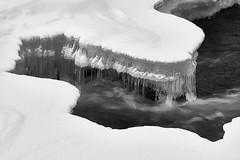 Slowly freezing (jbs636) Tags: sweden abisko river icicles
