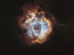 Rosette Nebula (manuel.huss) Tags: space nebula cosmos stars rosette universe astronomy astrophotography telescope astro night sky wonder deep black blue orange
