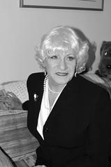 1950's TV Star Laurette McGovern Reveals Secret To Her Longevity (Laurette Victoria) Tags: monochrome laurette silver suit laurettemcgovern pearls