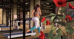 Working out!! (Osiris LeShelle) Tags: secondlife second life osiris working out running gym fun flowers pfft