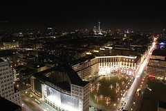 Potsdamer Platz Nightshot (mathiaslochner) Tags: berlin city nightshot night traffic lights car autos skyline sky rooftop alexanderplatz potsdamer platz lichter verkehr brandenburger tor outside nacht winter mitte colorfull