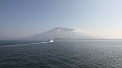 Sakurajima viewed from ferry in the morning IMG_8366-1 169 (TW Jaw) Tags: japan kyushu kagoshima sakurajima active volcano ferry