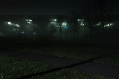 Silent Running (francesmac) Tags: green fog nebel longexposure langzeitbelichtung nacht night notte nebbia greenhouse gewchshaus mist
