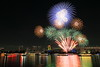 winter fireworks in Odaiba 2016 (cate♪) Tags: fireworks winter december odaiba rainbowbridge ships reflections