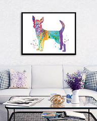 Chihuahua Watercolor Art Print Chihuahua Poster Chihuahua painting Home Decor Dog Illustration Nursery Decor Boy Girl Room ChildrenWall Art (bogiartprint) Tags: artandcollectibles prints giclee dogart watercolordog watercolorprint chihuahuaart chihuahuawatercolor chihuahua littledog chihuahuaposter watercolorpainting dogpainting dogillustration chihuahuaprint childrenwallart