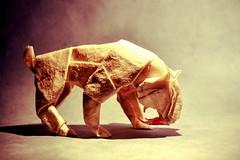 20 Fantastic Non-Dinosaur Prehistoric Origami Creatures (Origami.me) Tags: origami papercraft paper craft fold folding diy smilodon satoshi kamiya gonzalo prehistoric