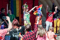 "Cosmic entertains the crowds at Plymouth Pride 2015 • <a style=""font-size:0.8em;"" href=""http://www.flickr.com/photos/66700933@N06/20005659023/"" target=""_blank"">View on Flickr</a>"