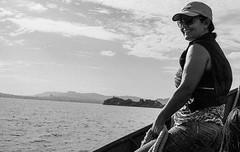 Navigator (glauberpitfall) Tags: trip brazil blackandwhite lake film analog island boat ride pentax trix d76 guaba riograndedosul takumar50mmf14 guabalake epsonv600