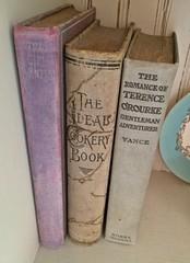 Vintage books (eg2006) Tags: book lavender books oldbooks antiquebooks vintagebooks harrisonfisher thegirlwanted prettybooks louisjosephvance theidealcookerybook theromanceofterenceorourke nixonwaterman