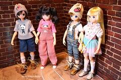 Double Date❤️ XD (cute-little-dolls) Tags: friends cute love toy couple doll kawaii aoto yuta petworks excute azonedoll purneemo ruruko