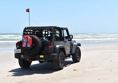 Jeb Stuart (Ashley3D) Tags: park 3 black beach island sand sticker skies jeep flag jerry rear north can stuart confederate national netting edition seashore padre antenna jk jeb willys dirtydog wrangler blus donttreadonme northpadreisland gadston
