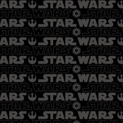 """(Camelot Cottons) Star Wars III, Logo In Black • <a style=""""font-size:0.8em;"""" href=""""http://www.flickr.com/photos/132535894@N06/20595196185/"""" target=""""_blank"""">View on Flickr</a>"""