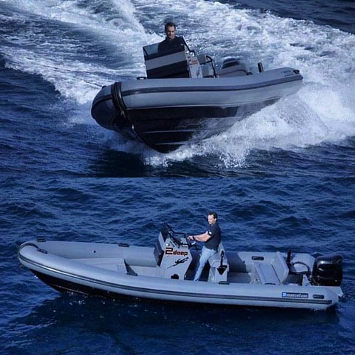 Rib boat Alert! Model : Marvel 7 Military Grey Mykonos Island, 2011 Engine : 175 HP Suzuki Max Persons : 8 #ribcruises #boat #rentaboat #sea