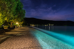Colours (Vagelis Pikoulas) Tags: longexposure blue autumn sea sky colour beach colors night canon colours view september tokina greece hour 6d 2015 colorphotoaward 1116mm