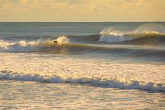 The Golden Hour (dennisknowlesphotos) Tags: ocean red nature water surf waves florida offshore hurricane surfing fl swell cocoabeach satellitebeach dawnpatrol