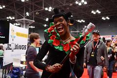 NYCC 2015 (Samicorn) Tags: nyc newyorkcity roses nerd comics costume nikon geek cosplay convention cosplayer mic thefifthelement christucker supergreen nycc newyorkcomiccon rubyrhod