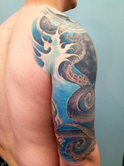 octopus half sleeve 3 (Body Graphics CMS) Tags: octopustattoo bodygraphicstattoo billfunk bodygraphicsonsouthst bodygraphicsnewjersey realisticoctopustattoo octopusandwatertattoo billfunktattoo bodygraphicsphiladelphia