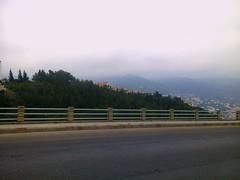 Sans voiture (Gilbert-Nol Sfeir Mont-Liban) Tags: road trees houses lebanon fog alberi clouds strada nuvole nebel maisons case route arbres nuages nebbia ontheroad brouillard liban mountlebanon montliban kesserwan