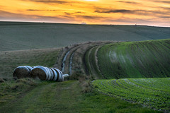 Curvaceous (lloydlane) Tags: landscape field south downs curvy stack sunset grass path land sussex telscombe down way