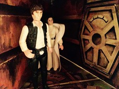 Trash Compactor 2 (Tracheotomy Bob) Tags: star wars palitoy death toys han solo princess leia trash compactor