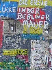 BERLIN - Wall Graffiti at Potzdamer Platz 2005 (zorro1945) Tags: grafitti potsdamerplatz berlin deutschland germany europe europa berlinwall ddr coldwar