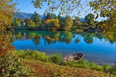 Ballata d'autunno (marypink) Tags: fiumeadda brivio autunno colori reflections water boat nikond800 nikkor1635mmf4 autumn