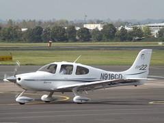 N916CD Cirrus SR22 (Aircaft @ Gloucestershire Airport By James) Tags: gloucestershire airport n916cd cirrus sr22 egbj james lloyds