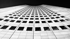 Panorama Tower Leipzig - Uni Riese (André Schönherr) Tags: 40d visionhunter leipzig uniriese panoramatower mdr bw blackwhite monochrome sky hochhaus skyscraper
