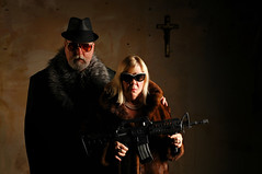 Don and Victoria Genovese - There's relatives and then there's family. (Studio d'Xavier) Tags: werehere familytime family costanostra mafia gangsters 365 october272016 301366 strobist ar15