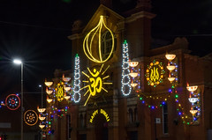 Leicester's Diwali Lights (Brian Negus) Tags: illuminations night lights leicester diwali goldenmile belgrave street celebration