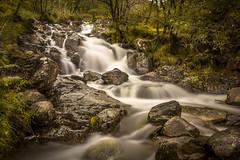 Falling through the Ben Nevis region. (Ian Emerson) Tags: waterfall water rocks scotland scenic vegetation trees outdoor landscape bennevis highlands beauty hoya ndx400 omot filter