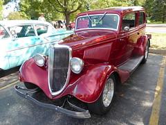 "Wheaton, IL, Cantigny Park Classic Car Show, Red 1934 Ford ""Tudor"" (Mary Warren (7.4+ Million Views)) Tags: wheatonil cantignypark classiccars car automobile vehicle red ford"
