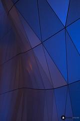 Chovet pauline_IMG_1553 (chovet.pauline) Tags: architecture couleurs confluence minimalisme dtails lyon muse des confluences bleu gomtrie nuit canon eos 6d