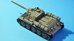 SU-85 - top view (dmaclego) Tags: lego ww2 wwii tank destroyer selfpropelled soviet panzer