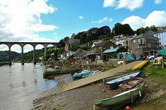 Calstock Cornwall (Eddie Crutchley) Tags: europe england cornwall calstock outdoor river boats blueskies viaduct simplysuperb greatphotographers