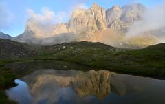 Sunset reflections (supersky77) Tags: poris grabiasca orobie orobian alps alpes alpen passodivalsecca brembana valbrembana lombardia lombardy lombardie lombardei alpi