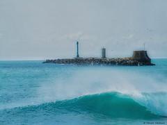 Diga della Vegliaia (fabricata) Tags: diga della vegliaia livorno toscana tuscany italia italy mare sea onda wave seascape