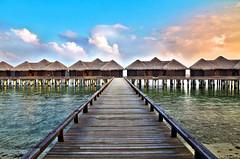 Sheraton Maldives (ClickSnapShot) Tags: ilobsterit maldives overwaterbungalow bungalow waterchalet sheraton sheratonmaldivesseaindian ocean bridge holiday summer vacation seascape panorama travel perspective