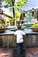 Make a Wish (Omni-Photography) Tags: fountain make wish boy gatlinburg tennessee coin throw town hdr