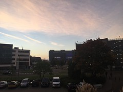 Dinsdag 18 oktober  2016 (1.308) (gill4kleuren - 12 ml views) Tags: goodmorning good morning goede morgen goedemorgen clouds sky picture every day tree buildings work workplace shoot lente spring winter zomer summer herfst autum nederland leiden sunset rain wolken