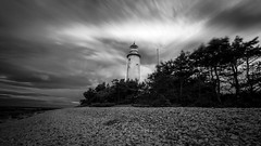 Lighthouse (JH') Tags: nikon nikond5300 d5300 longexposure landscape blackandwhite wideangel summer sky sigma sweden 1020 2016 bw seaside coastline clouds coast water trees tree rocks nature lighthouse