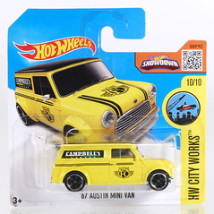 HOT-2016-175-Minivan-yellow (adrianz toyz) Tags: diecast toy model car hot wheels 2016 austin mini van campbells garage bmc blmc adrianztoyz