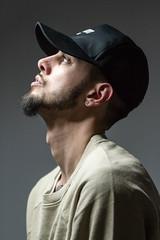 IMG_1076 (sabrinafvholder) Tags: man male hat hipster studio portrait young givenchy sabrinavazholder